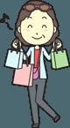 ワクワクしながら買い物をする女性